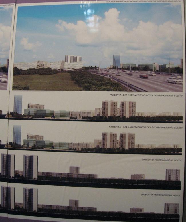 Бизнес-центр «Западные ворота». 2-я очередь. Можайское шоссе, 60 и 55. ABD Architects. Вариант 3