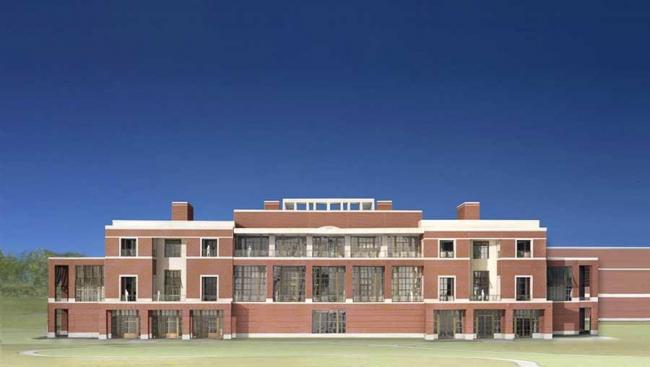 Президентский центр Дж. У. Буша. Южный фасад ©  Robert A.M. Stern Architects