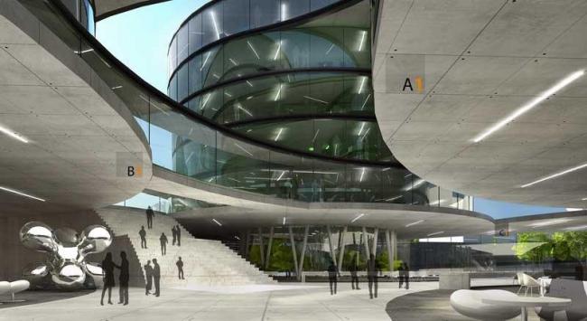 Новые корпуса здания городской администрации Любляны. Конкурсный проект