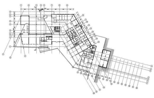 План 1-го этажа. Медицинско-оздоровительный центр