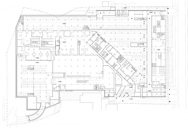 План -4 подземного этажа