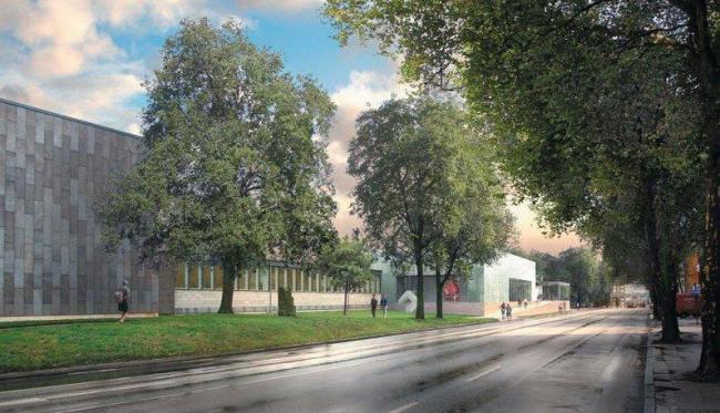 Новое крыло Музея Фолькванг. Проект ©  David Chipperfield Architects
