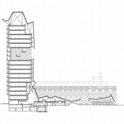San Francisco Ftderal Building. Разрез