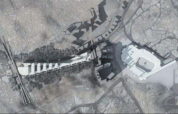Генплан района Дарб Эль-Халил. Справа - мечеть Эль-Харам