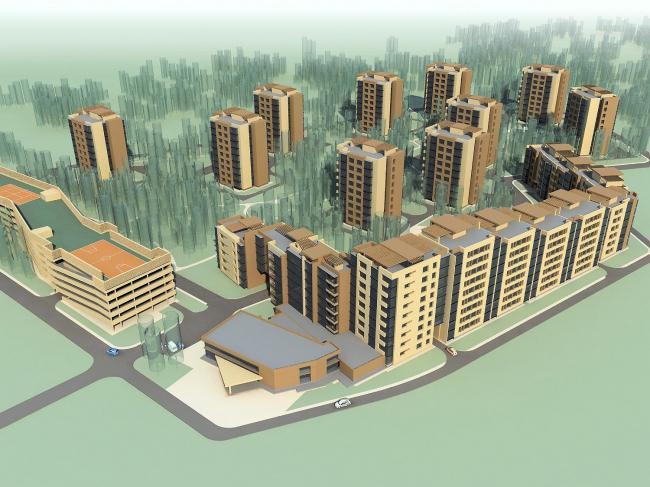 Жилая застройка переменной этажности в микрорайоне Опалиха © Архитектуриум