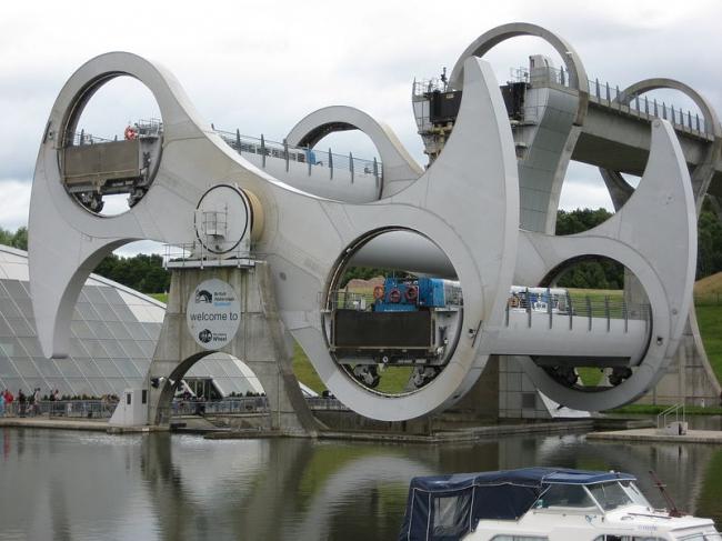 Фалькиркское колесо. Фото: J. Miers via Wikimedia Commons. Лицензия CC-BY-SA-1.0