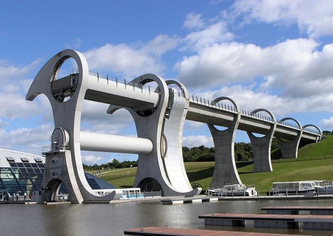 Фалькиркское колесо. Фото: Sean Mack  via Wikimedia Commons. Лицензия CC BY 2.5
