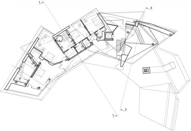 План 2-го этажа. Частный жилой дом в поселке Малаховка