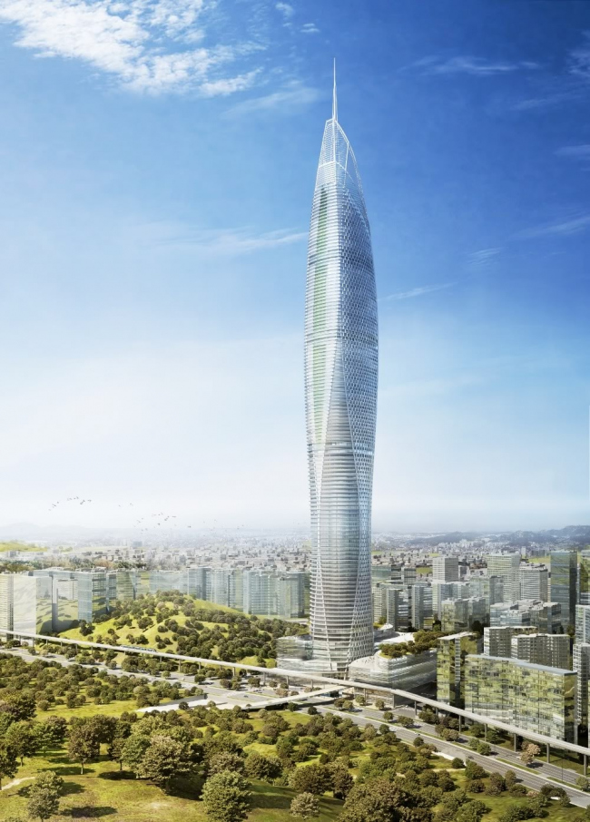 Башня Digital Media City Landmark Tower © SOM