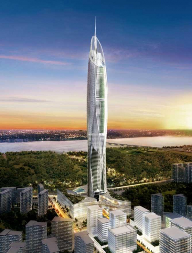 Башня Digital Media City Landmark Tower © SOM