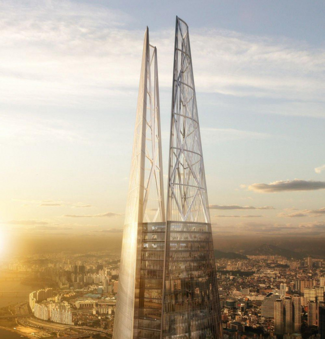 Башня Lotte World Tower © Kohn Pedersen Fox