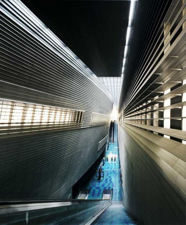 "Проект – победитель раздела ""Transport"" (Транспорт) – Станция ""Bras Basah« скоростного метро. Проект бюро »WOHE"", Сигапур. Фото: Patrick Bingham-Hall"