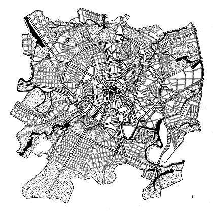 Генеральныйми план Москвы 1935 г.