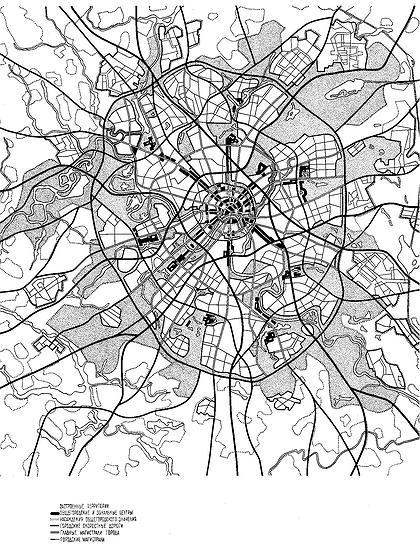 План Москвы 1971 г.