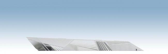 Музей искусств Эли и Эдит Брод. Южный фасад © Zaha Hadid Architects