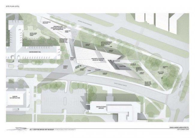 Музей искусств Эли и Эдит Брод © Zaha Hadid Architects
