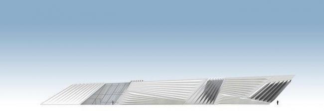 Музей искусств Эли и Эдит Брод. Северный фасад © Zaha Hadid Architects