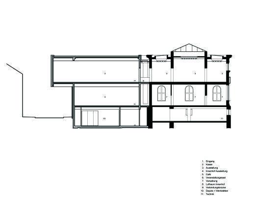 Музей Леопольда Хеша – новое крыло  © Peter Kulka Architektur