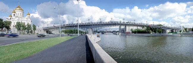 Патриарший пешеходный мост © ОАО «Моспроект-2» им. М.В. Посохина