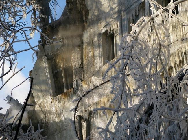 После пожара. Дом Гурьевых. Фото «Архнадзор»