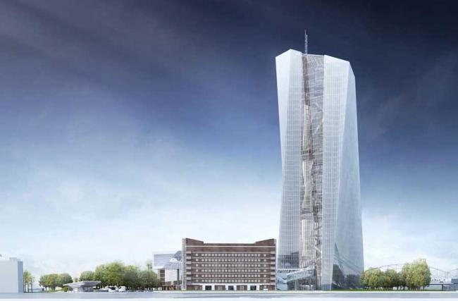 Европейский Центральный Банк. Проект 2009 года © Coop Himmelb(l)au