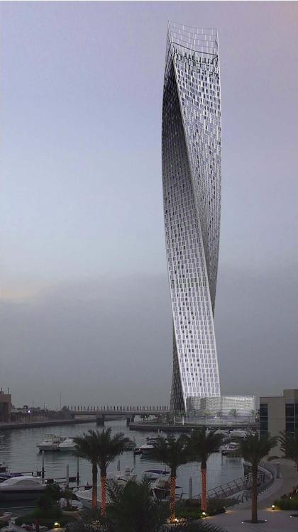Небоскреб Cayan Tower © Skidmore Owings & Merrill