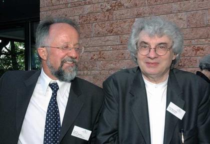 Вернер Екслин и Марио Ботта на открытии библиотеки