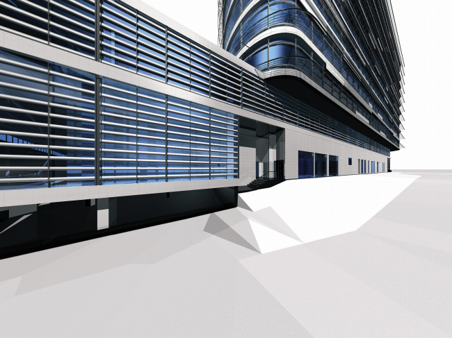 Многофункциональный комплекс на проспекте 60-летия Октября © ABD architects