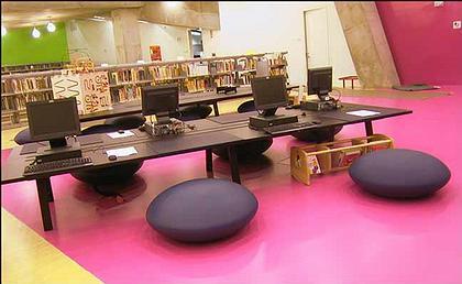 Рем Колхас. Центральная библиотека Сиэтла. Детский читальный зал