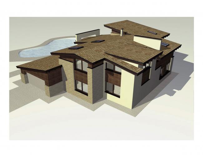 Загородный жилой дом в деревне Кирилловка © Архитектуриум