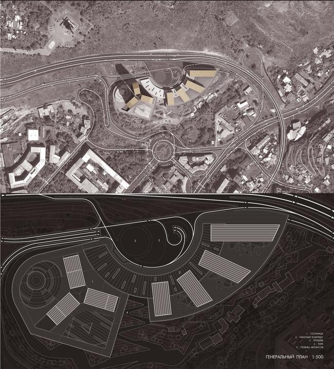 Конкурсный проект международного делового центра с гостиничным комплексом Intercontinental в Ереване