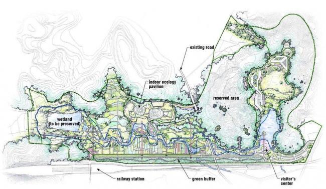 План территории Национального экологического института © Samoo Architects & Engineers, Grimshaw Architects