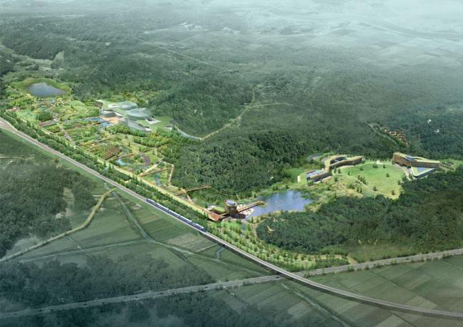 Общий вид территории Национального экологического института © Samoo Architects & Engineers, Grimshaw Architects