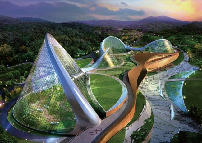 «Проект Экориум» Национального экологического  института © Samoo Architects & Engineers, Grimshaw Architects
