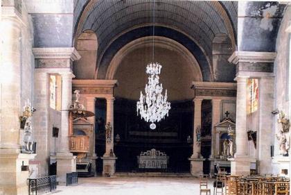 Церковь Сен-Мартен д'Арк-сюр-Тий. Интерьер