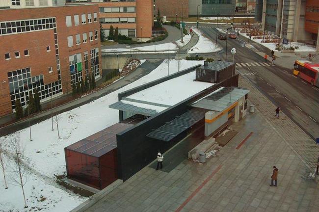 Станция метро «Нюдален» в Осло. Наземный павильон