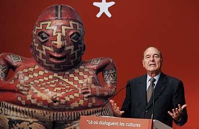 Жак Ширак на открытии Музея на набережной Бранли