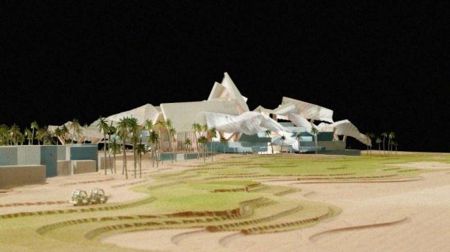 Здание гольф-клуба Saadiyat Beach Golf Club