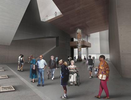 Мемориал Центра Мировой Торговли. Проект. Июнь 2006. Подземный музей