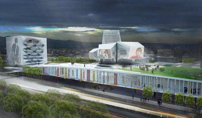 Тайбэйский центр поп-музыки. Проект 1-го этапа конкурса © Reiser+Umemoto RUR