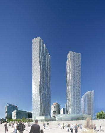 Башни DC 1 и 2 © Dominique Perrault Architecture