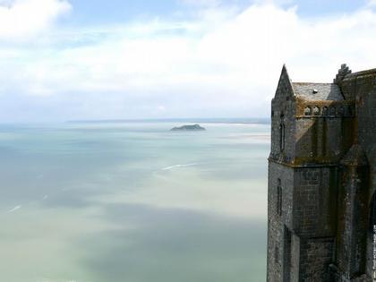 Залив Мон-Сен-Мишель. Вид с острова