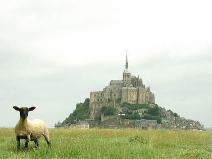Мон-Сен-Мишель. Вид с берега