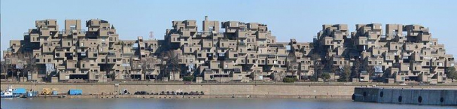 Жилой массив Habitat ′67. Фото: Vassgergely  via Wikimedia Commons. Лицензия CC BY-SA 3.0