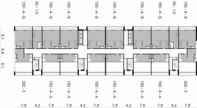 План 7,10 этажа