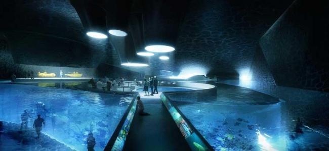 Центр исследований океана Ocean Space Centre. Аквариум