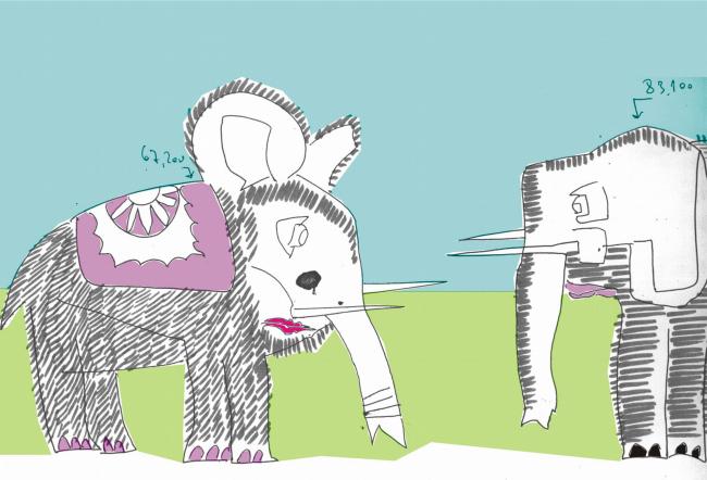 «Слоны» в графическом виде. Нарисовано Виталием Стадниковым