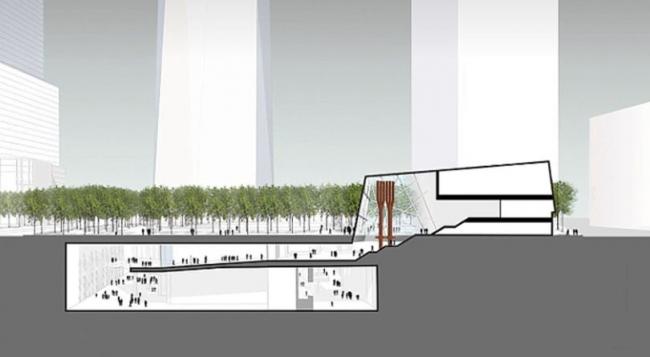 Павильон Национального мемориального музея 11 сентября © Snøhetta