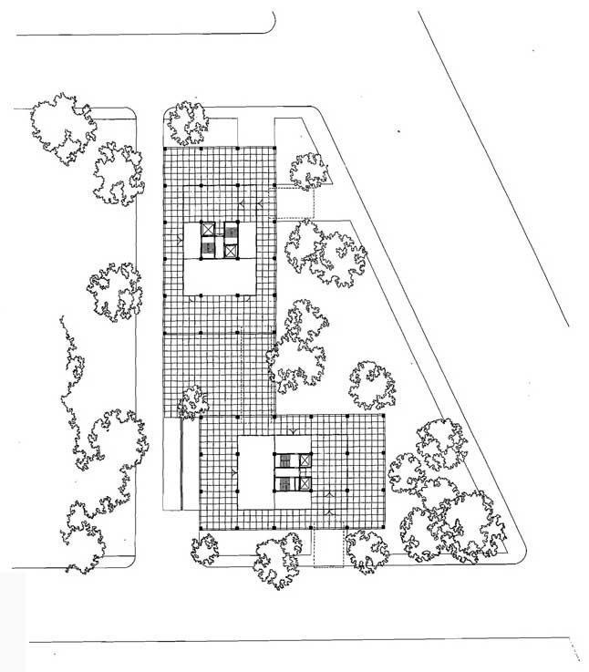 Жилые дома на Лейк-Шор-драйв. Ситуационный план