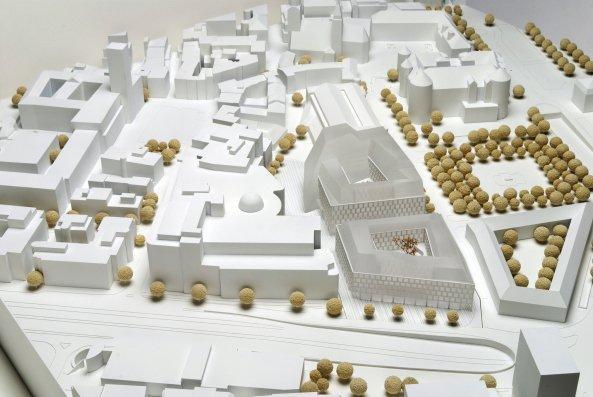 Квартал на площади Карлсплац © Behnisch Architekten